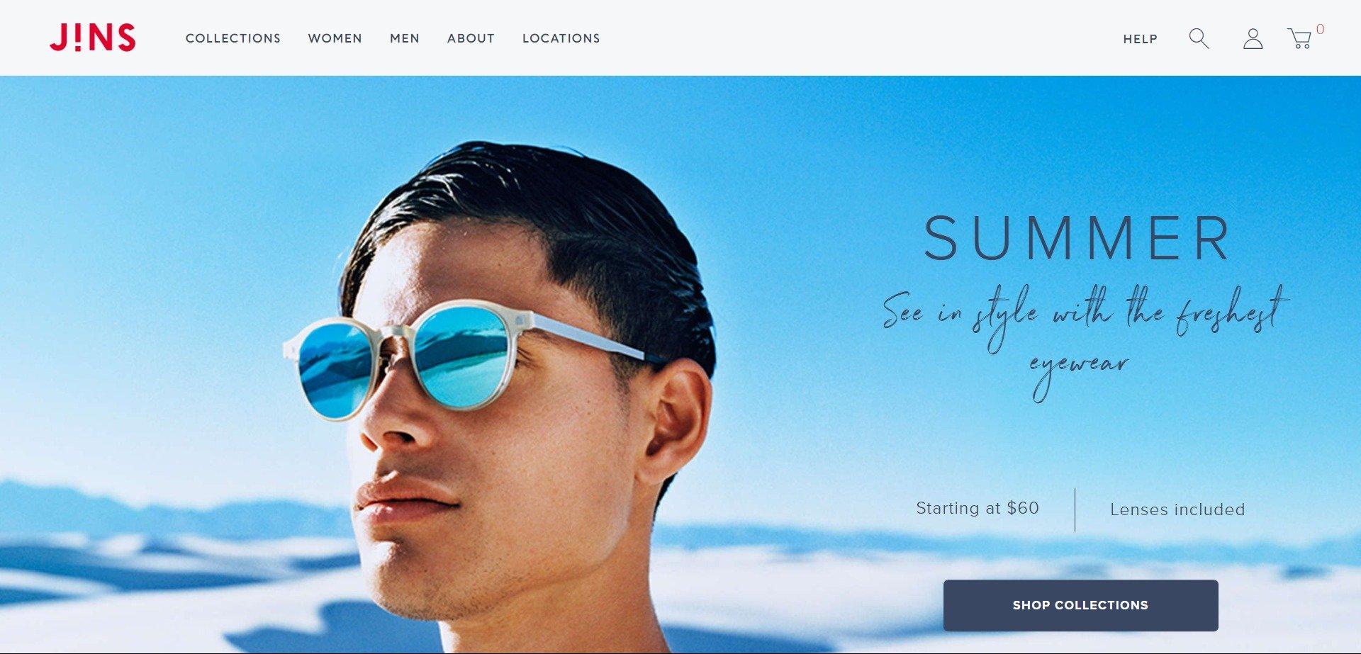 96af26bbf5bf best-optometry-websites-www.jins.com. JINS prescription eyewear ...